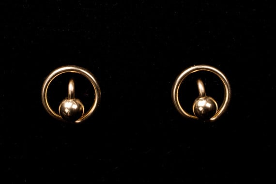 69228da5e Small, classic stud earrings, gold filled, sterling silver, niobium, CHOICE  of BEADS & METAL