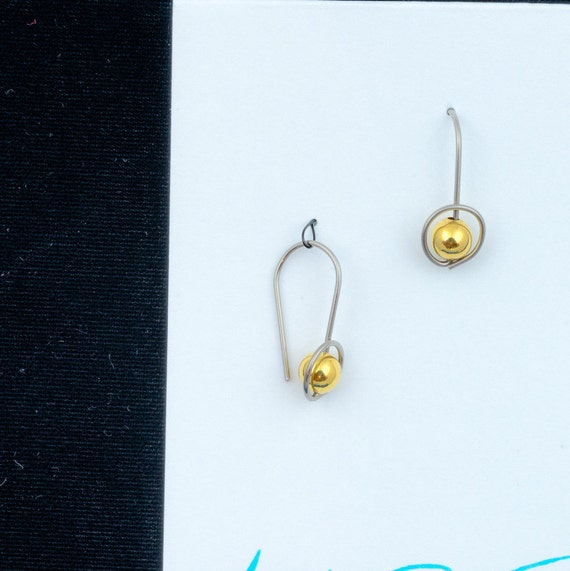 hoop earrings, choice of metal and beads, silver, gold filled, rose gold, allergy safe niobium