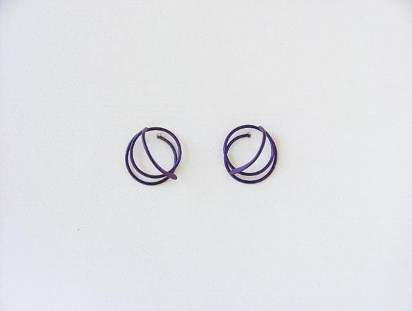 518d52b15 Allergy Safe - Classic designer stud earrings, anodized niobium ...