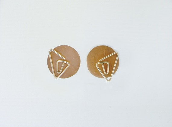 Travel Stud Earrings - 4 FREE COLORS, gold filled, sterling, niobium, dyed coconut shell discs