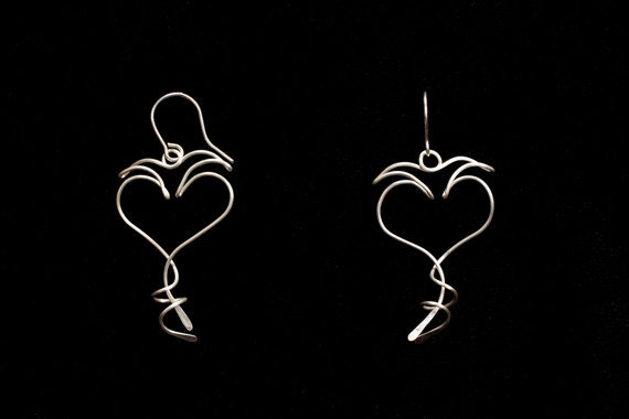 LOVE, LIGHT & LAUGHTER - 12 kt. Gold-Filled drop earrings, sterling silver, niobium with gold-filled chain