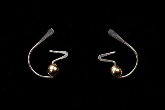 FUNKY Designer Stud Earrings, Sterling Silver, Niobium, Gold Filled, CHOOSE your METAL & Beads