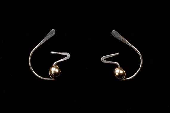 c9aebff35 FUNKY Designer Stud Earrings, Sterling Silver, Niobium, Gold Filled ...