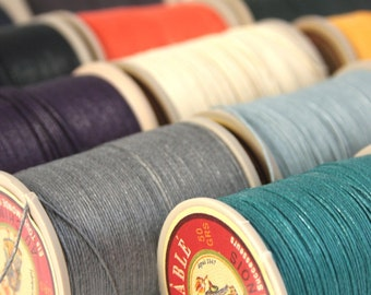 Fil Au Chinois Lin Cable No. 332, 50g Spool of French Corded Waxed Linen Thread, (thickest)