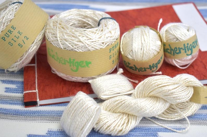Pure natural silk 100% pure soft silk super spun image 0