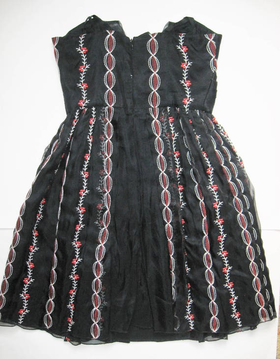 ANNA SUI Vintage Designer Red & White EMBROIDERY … - image 5
