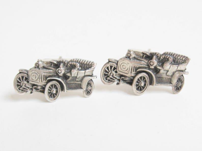 Vintage 1950s FENWICK /& SAILORS Sterling Silver Antique Deco Automobile Car Cufflinks Artisan Designer Cuff Links