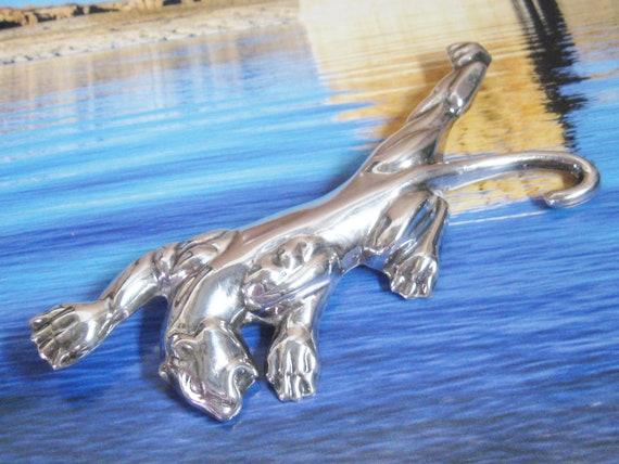 MCM Vintage Sterling Silver BIG Cougar Puma Mounta