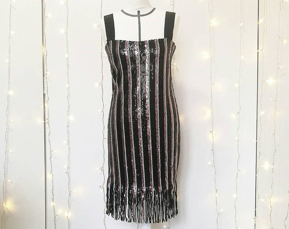 LOUISE FLAPPER DRESS with fringes, Great Gatsby 20s style