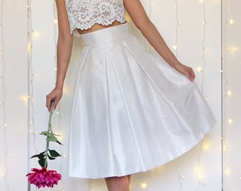 BRIDAL IVORY SKIRT, pure silk