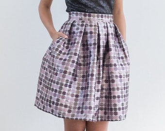 PURPLE SPARKLING SKIRT with pockets
