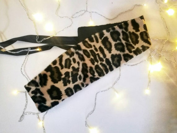 LEOPARD HAIR on hide BELT, reversible