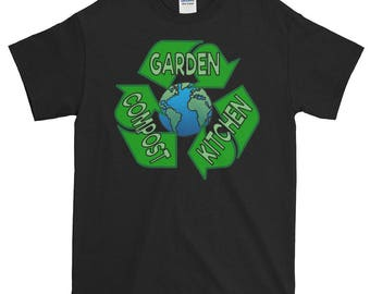 Gardening/Compost/Recycle/Planet Earth - Black Graphic Tee