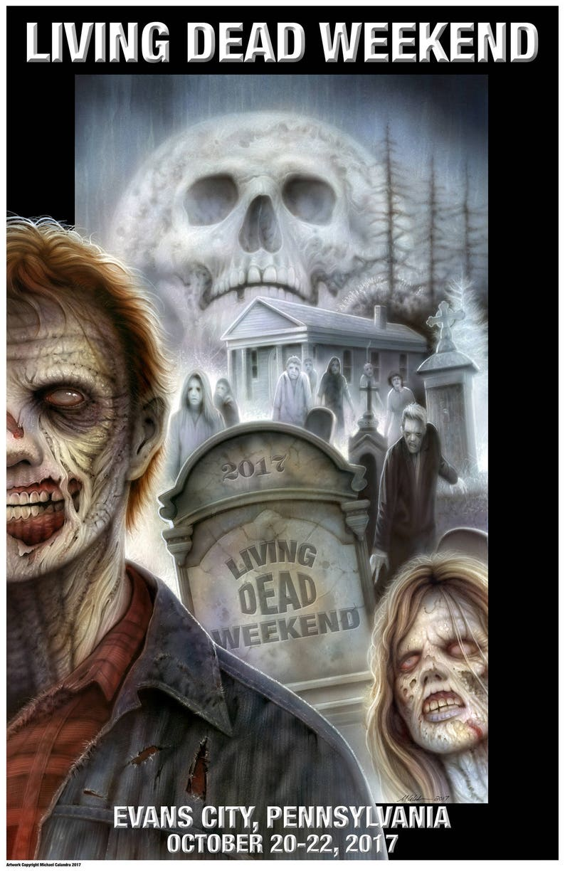 Official Living Dead Weekend 2017 Signed Poster
