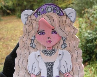 Sonja Polaris Articulated Paper Doll, Printable PDF, You Color