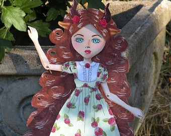 Rose-Marie Beast Articulated Paper Doll, Printable PDF, You Color