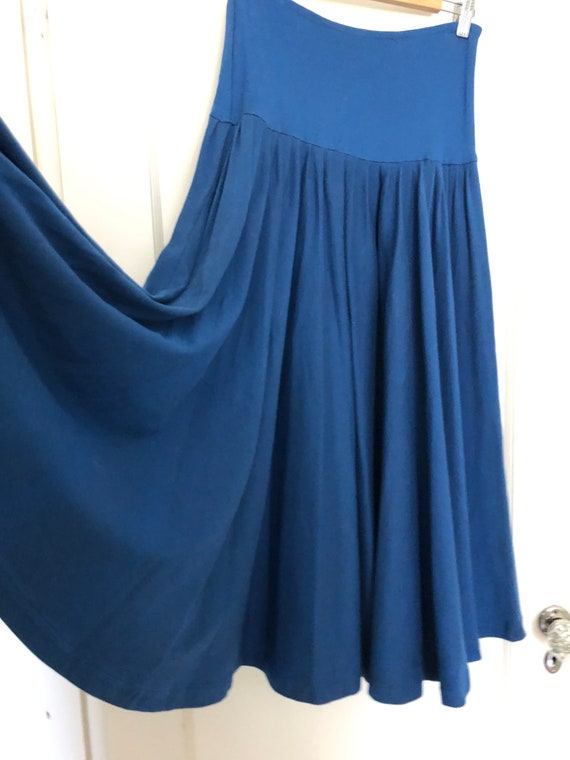 70s Vintage Norma Kamali circle skirt with cowl n… - image 3