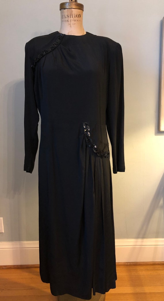 Vintage 40s rayon crêpe dress