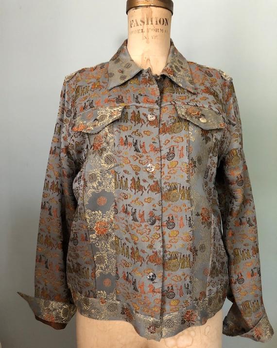 Citroen Santa Monica silver bronze brocade jacket