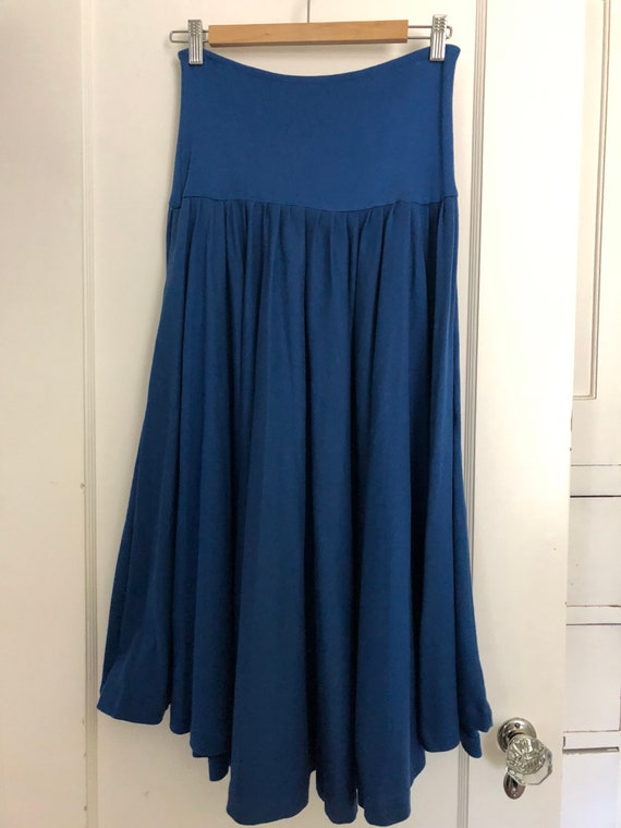 70s Vintage Norma Kamali circle skirt with cowl n… - image 4