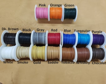 """Deerskin Deer Leather Lace Spool Roll 1/4"""" x 25 FT Lacing Cord String Craft F-2"""