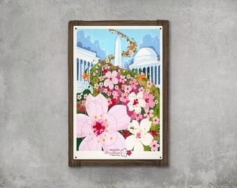Washington Cherry Blossom Festival METAL Framed Art FREE SHIPPING