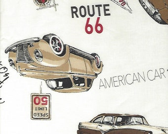 Route 66 Color B by Suzuko Koseki for  Yuwa of Japan