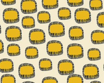 Punch Geometric Ovals Yellow from Stof of Denmark