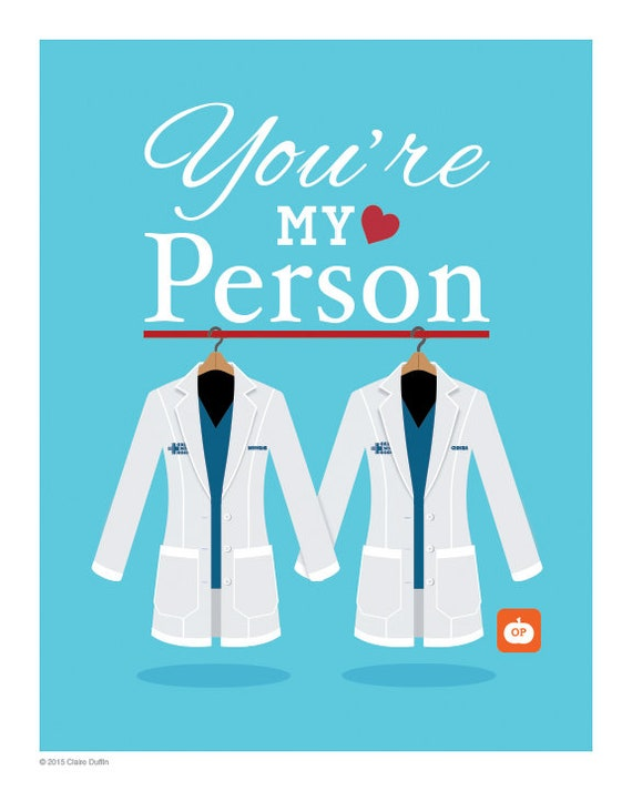 You\'re My Person Quote - Personalised Grey\'s Anatomy Lab Coats