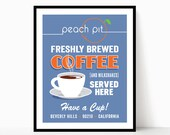 Modern Peach Pit Ad - Inspired by 90210 Art Print Poster