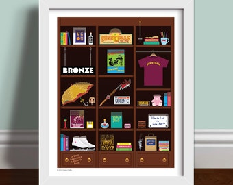 Buffy Bookcase - Buffy The Vampire Slayer Art Print Poster