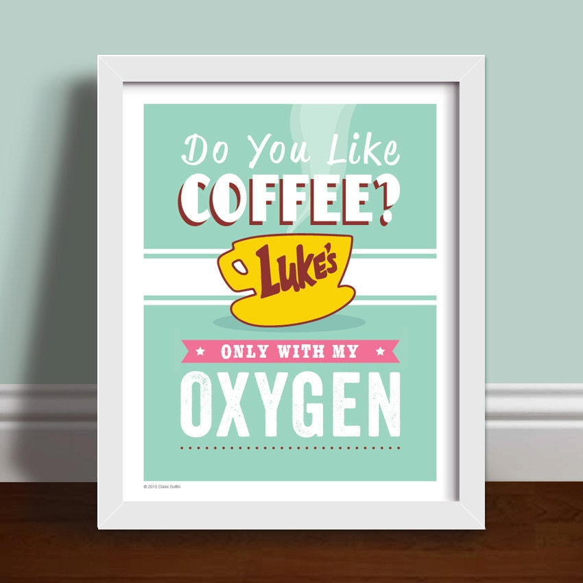 Do You Like Coffee Quote Art Print Poster Etsy