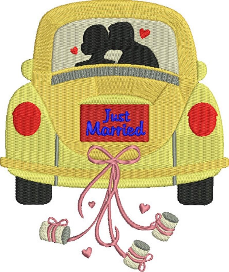 00ee15900e96 Sposa e sposo in auto Just Married matrimonio amore macchina