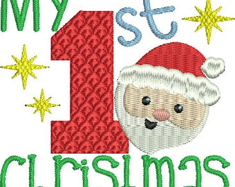 My 1st Christmas Baby Machine Embroidery Design