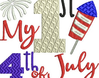 My 1st 4th of July Baby Machine Embroidery Design