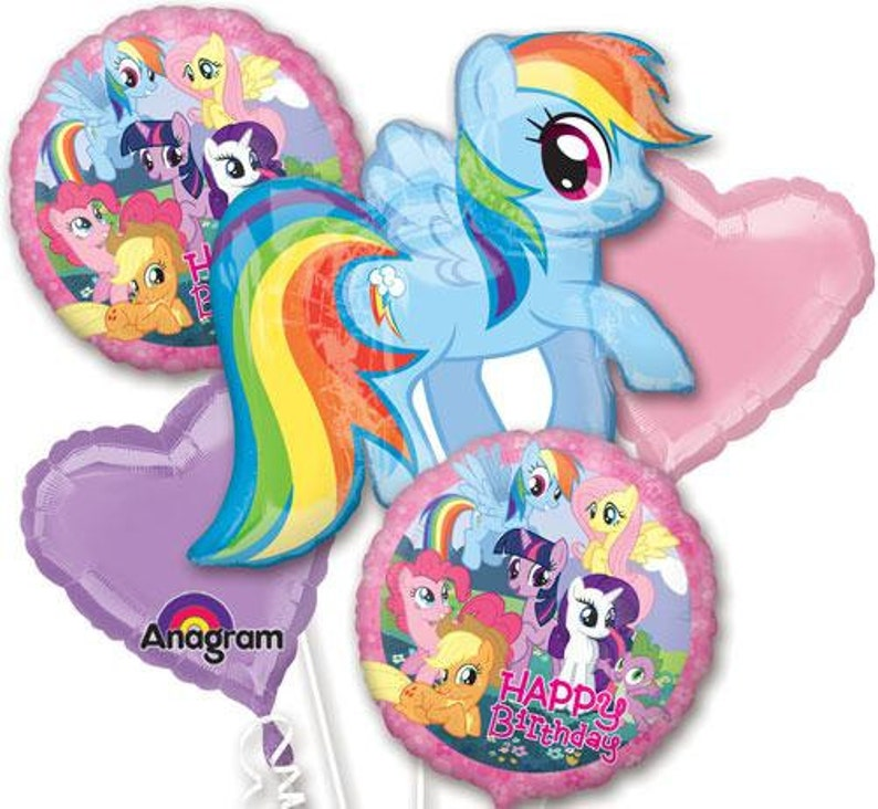 My Little Pony Birthday Balloon Bouquet 5 Piece Set For