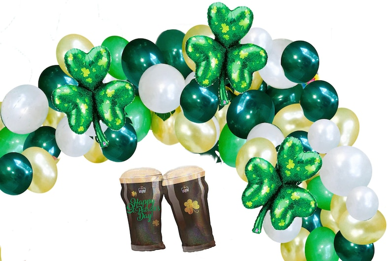 St Patrick's Day Balloon Garland