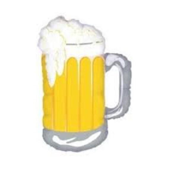 Beer Balloon Frosty Mug Of Beer Balloon Beer Mug Decor Beer Etsy