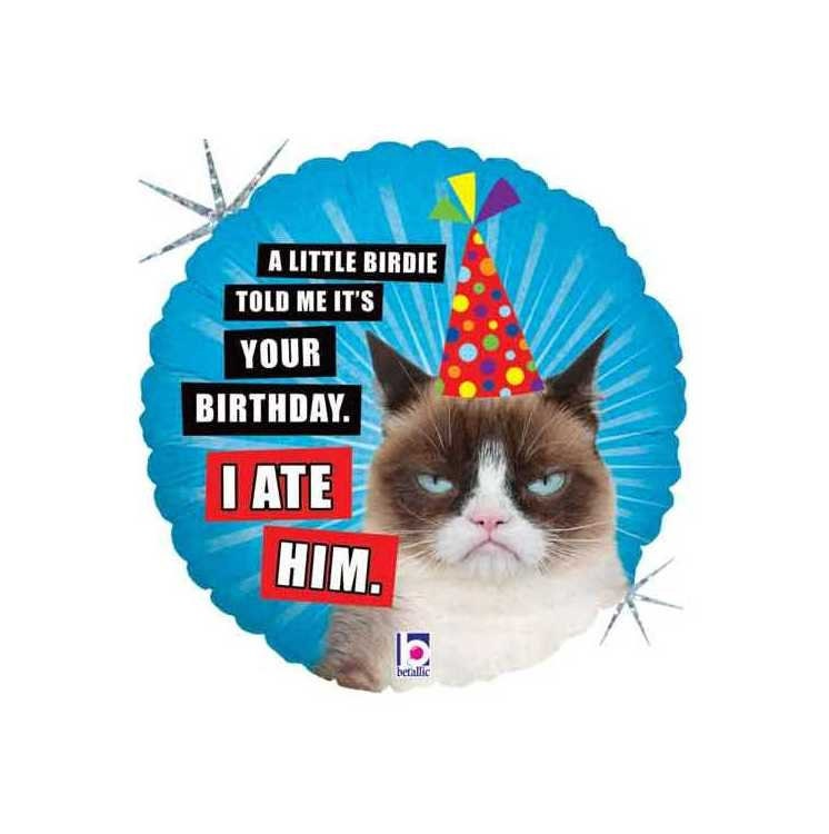 Grumpy Cat Balloon Birthday I ATE HIM