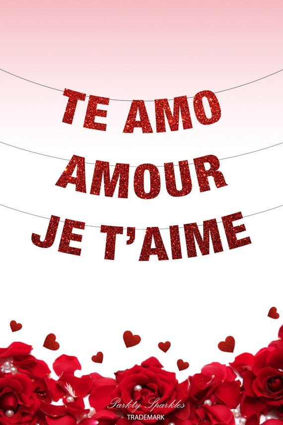 Te Amo Banner Amour Banner Je Taime Banner Love Banner Valentines Day Decor Valentines Day Love Is Love Be My Valentine Party Decor
