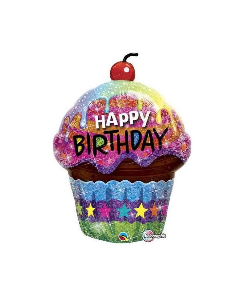 Cupcake Party Decorations Happy Birthday Balloon