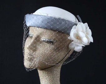 Vintage formal hat/Goodwood Revival, Ascot, races, burlesque,church, mother of the bride, Made in England