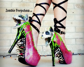 "Slime ""Zombie Kitty"" Steel Claw Pumps"