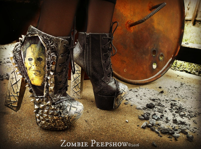 Michael Myers Halloween Studded Ankle Boots image 0