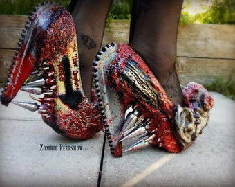 "Bloody ""Texas Chainsaw Massacre"" Gore Pumps"