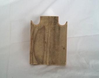 Collier support 6 pouces 15 cm Collier en bois rustique affichage patiné prendre bois récupéré vers le bas de conception pour les salons d'artisanat