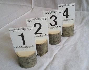 10 d'érable naturel bois Place porte mariage rustique Table Decor Table numéro porte carte de visite détenteurs de la carte