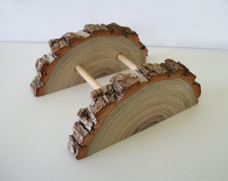 Adjustable Sassafras Wood Business Card Holder Tree Branch image 0