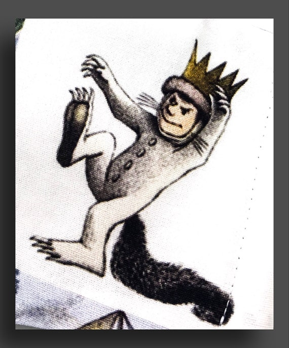 """Children's Story Book, 100% Cotton, Triple Layered Mask — """"Where the Wild Things Are""""."""