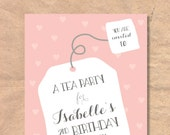 Printable Tea Party Birth...